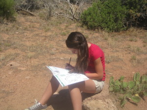 Sophie Working on the Junior Ranger Booklet