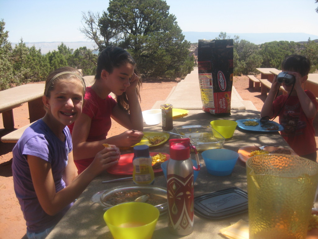 Picnic in Colorado National Monument