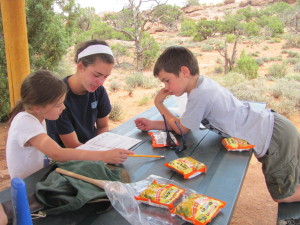 Lunch in Canyonlands National Park