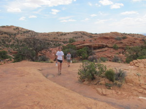 Hiking to Upheaval Dome- Canyonlands National Park