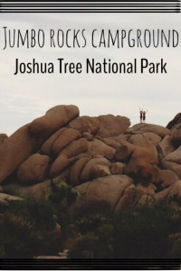 Jumbo Rocks Campground at Joshua Tree National Park