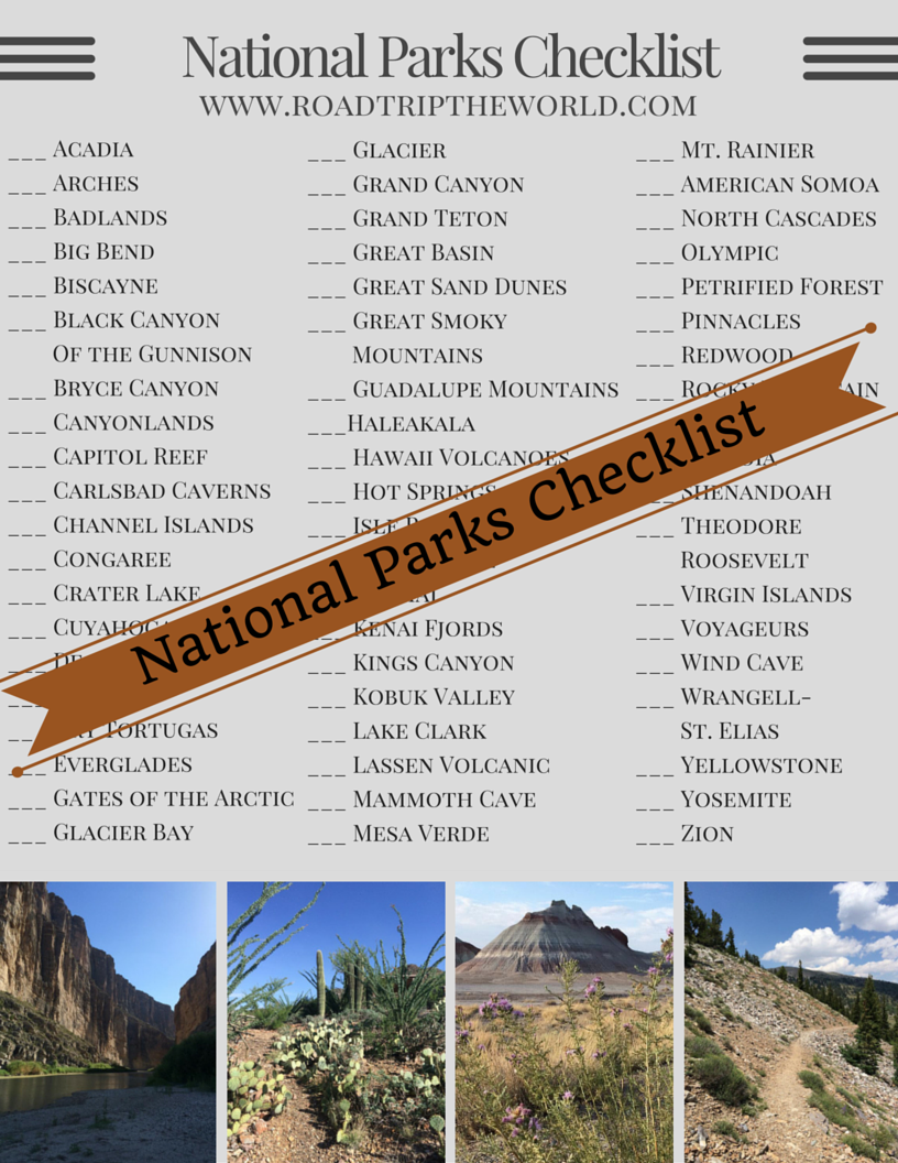 photograph relating to Printable List of National Parks known as Countrywide Parks Listing - Highway Family vacation the Planet