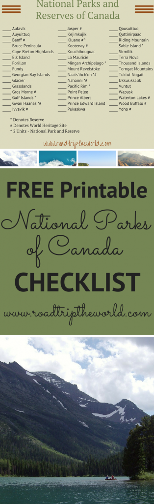 Handy image intended for printable national park checklist